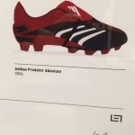 Signed Framed Adidas Predator Collection 96-06